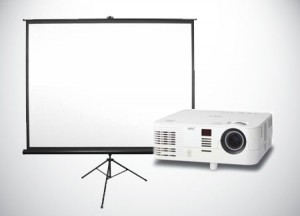Projector-Rental-With-Screen- NEC