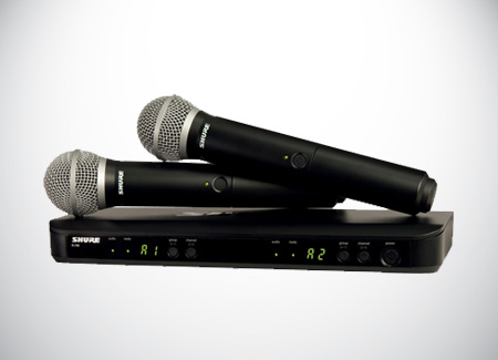 Equipment-Rental-Sure-Wireless-Microphones-BLX288A-SM58