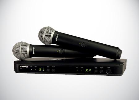 Equipment-Rental-Sure-Wireless-Microphones-BLX288A-SM58