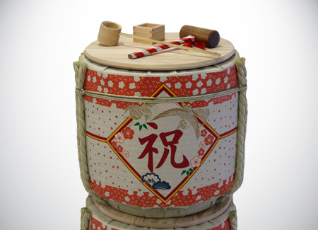 Kagami Biraki Sake Barrel Breaking for Japanese Opening Ceremony Set for Rent in KL for Celebrations