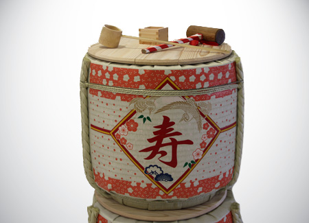 Kotobuki Kagami Biraki Sake Barrel Opening Ceremony Set with Best Wishes wording in Japanese